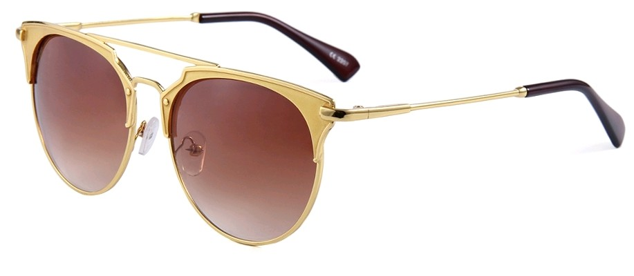 Eclipse Sunglasses Gold copper frame with Gradient Brown lens